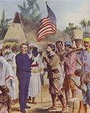 Henry Morton Stanley meets David Livingstone in darkest Africa, 1871