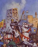 Richard the Lionheart at the Siege of Acre, Third Crusade, 1191