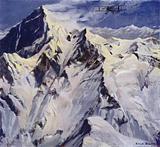 British aviator Douglas Douglas-Hamilton making the first aeroplane flight over Mount Everest, 1933