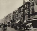 Old houses on the north side of the Strand, demolished in 1904