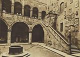 Firenze / Florence: Palazzo Pretorio o del Podesta ora Regio Museo Nazionale, Il Cortile, XIII secolo