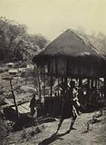 Burma: A hill-side village abandoned because of a cholera outbreak
