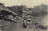 Burma: General view of an up-country village