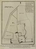 Plan of St Augustine's Monastery Canterbury, in Kent