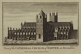 View of the Cathedral Church of Exeter, in Devonshire