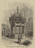 The Canal street Fountain, New Orleans
