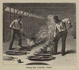 Making Salt, at Saltville, Virginia