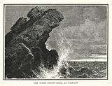 The noted Pulpit Rock, at Nahant
