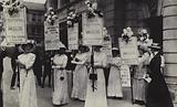 British suffragettes advertising their Summer Festival, 1913