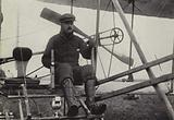 CS Rolls in his aeroplane on the Aero Club's airfield at Eastchurch, Kent, 1910