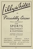 Advert for Lillywhites sports equipment and clothing