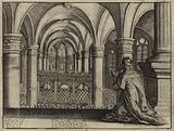King Solomon dedicating the temple he built in Jerusalem to God