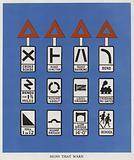 British warning road signs