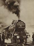 Steam locomotive the Papyrus which set a new speed record, 15 March 1935
