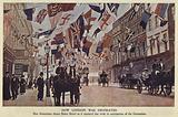 Decorations commemorating the Coronation of King Edward VII, Baker Street, London, 1902