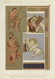 David playing the harp, and other miniatures from manuscripts of the 9th Century