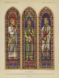 Isaiah, David and Moses, stained glass from Bourges Cathedral, France, 13th Century