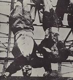 Dead bodies of Italian leader Benito Mussolini and his mistress Clara Petacci, Milan, 1945
