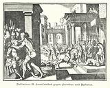Cruelty of Justinian II to Leontios and Tiberius, c706