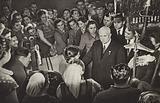 Nikita Khrushchov among textile workers at Tashkent