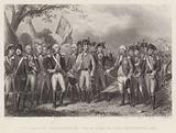 The British surrendering their Arms to General Washington, 1781