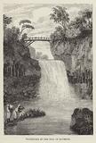 Waterfall in the Isle of Bourbon