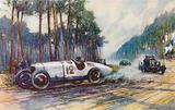 America's first success in a Grand Prix occurred when Jimmy Murphy's Duesenberg was successful at Le Mans in 1921