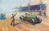 Sir Henry Segrave scoring the first British victory in a Grand Prix with the two-litre Sunbeam on the Tours circuit