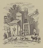 Une ferme romaine, fresque de Pompei