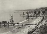 California, Oil Derricks on the Coast where Oil is pumped from the Ocean Bed