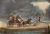 Mail Coach in thunderstorm