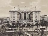 San Diego, California: US Grant Hotel, facing Plaza Park