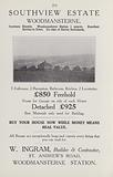 Advertisement in London and Suburbs Old and New, October 1933