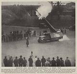 Monster gun and human cannon-ball, a crazy test