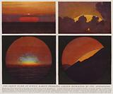 The green flash at sunset, rarest prismatic colour refracted by the atmosphere