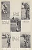 Putting, Characteristic tactics and stances of celebrities on the green