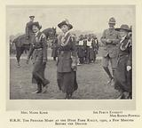 HRH The Princess Mary at the Hyde Park Rally, 1920, a few minutes before the deluge
