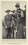 HM Queen Alexandra, the Chief Scout, and Miss Baden-Powell at the Hyde Park Rally, 1918