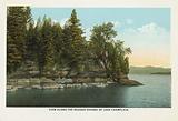 View along the Rugged Shores of Lake Champlain