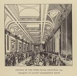 Banquet in Lloyd's Subscription Room, opening of the third Royal Exchange, London, 1844