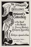 Advertisement for Mawson's Collodion for photographic processing