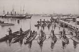 Submarines in dock