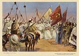 Bedouin chief proclaiming Jihad, World War I