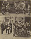 Mummers and Hobby Horse appearing in traditional customs, Hampshire