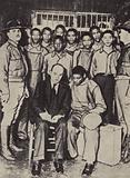 Scottsboro Boys, nine black teenagers falsely accused of raping two white women, 1937