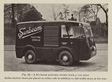 A Sunbeam electric fitted with a van body