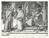Joseph presents his Father to Pharaoh
