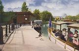 Chicago: Jackson Park Boat House and Excursion Steamers