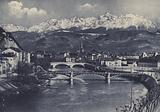 Grenoble, Panorama des Quais et les Alpes