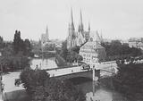 Strasbourg / Strasburg: L'Eglise protestante St-Paul et la Cathedrale